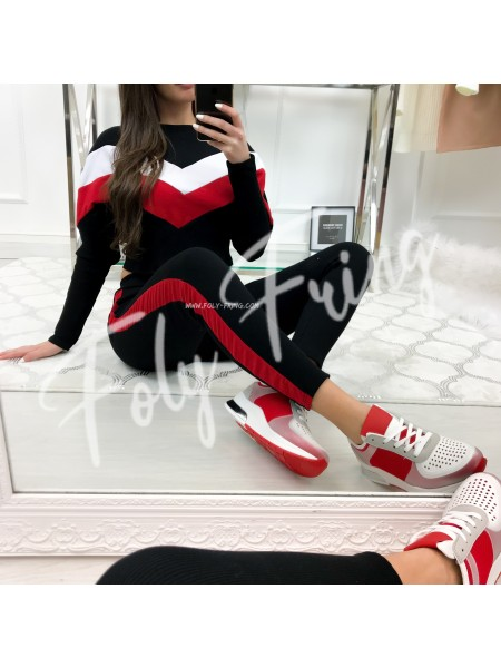 ***ENSEMBLE JOGGING BLACK & RED ***