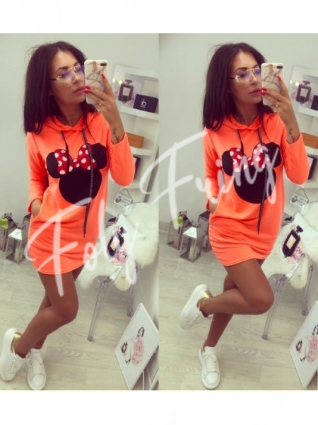**** ROBE SWEAT MINNIE NEON ORANGE ****