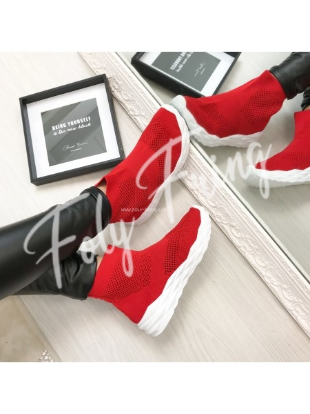 *** SNEAKERS BALENCIA RED ***