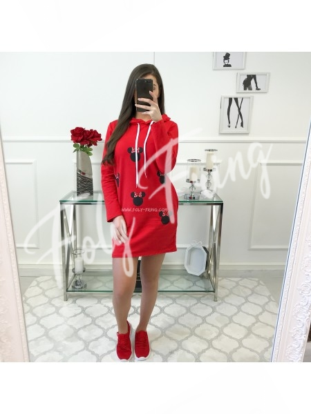 **** ROBE SWEAT MINNIE RED ****