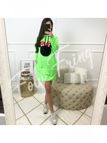 **** ROBE SWEAT MINNIE NEON GREEN ****