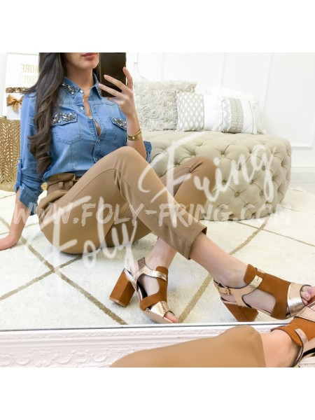 *** CHEMISE JEANS & STRASS ***