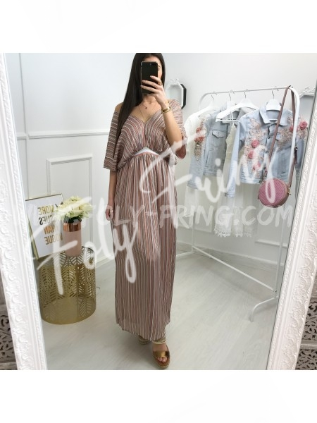 *** COLLECTION BOHEME ROBE RAYEE BOIS DE ROSE ***