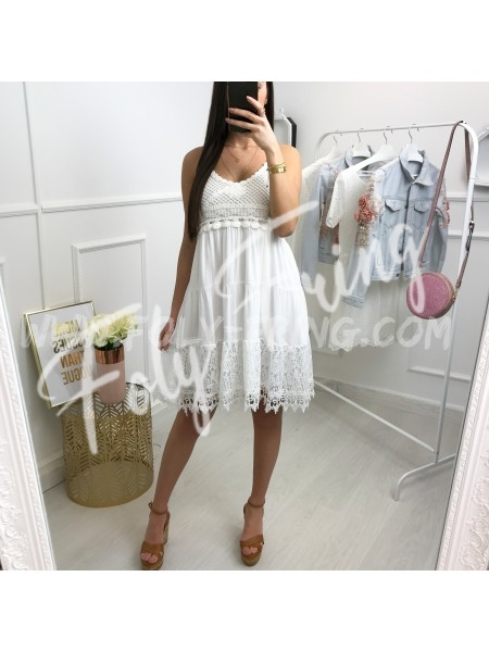 *** COLLECTION BOHEME ROBE BI MATIERE WHITE ***