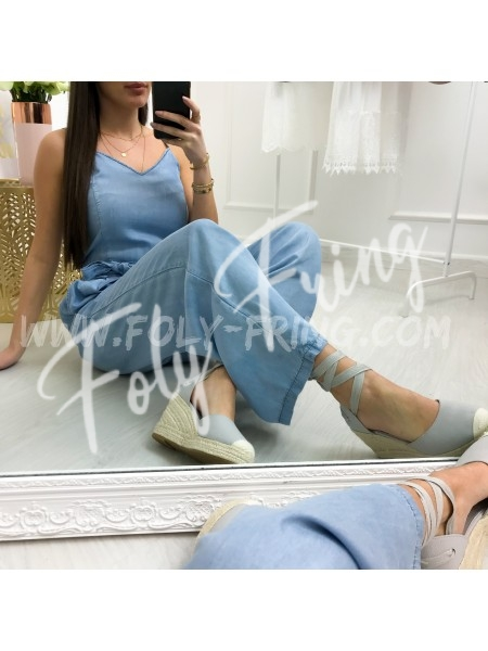 *** COMBIPANTALON JEANS LIGHT BLUE ***