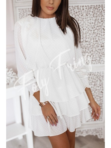 **** ROBE PLUMETIS WHITE ****