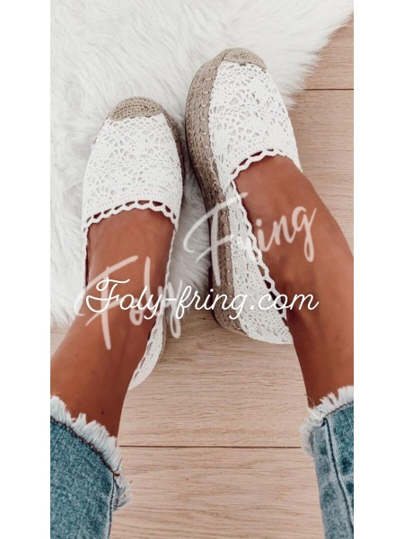 *** ESPADRILLES MAILLE WHITE ***