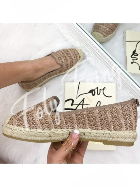 *** ESPADRILLES ROSE GOLD ***