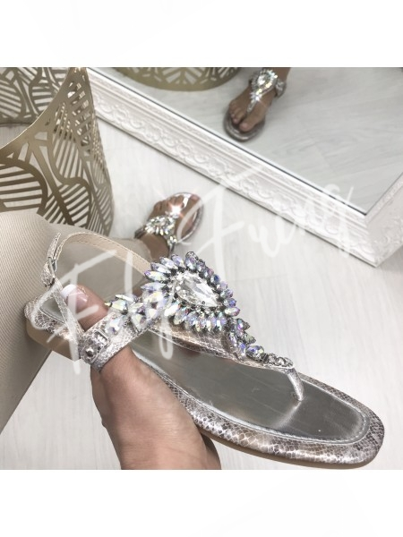 *** SANDALES SILVER & STRASS ***