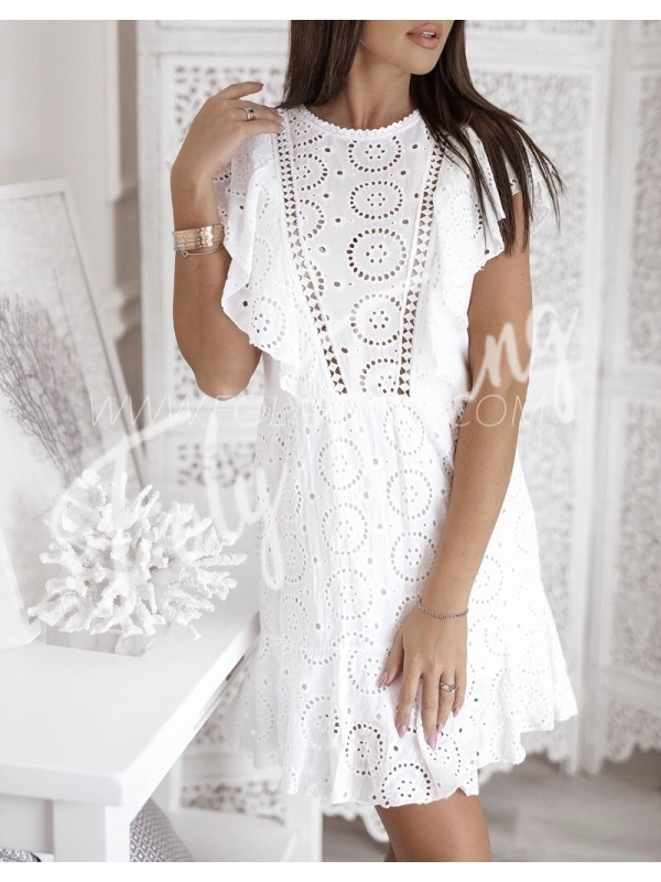 bbae63d11c6059 COLLECTION BOHEME ROBE BRODERIE ANGLAISE WHITE     - FolyFring