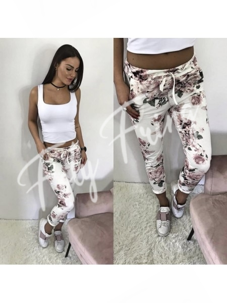 *** PANTALON FLOWER WHITE ***