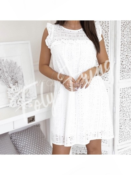 *** ROBE BRODERIE ANGLAISE WHITE ***