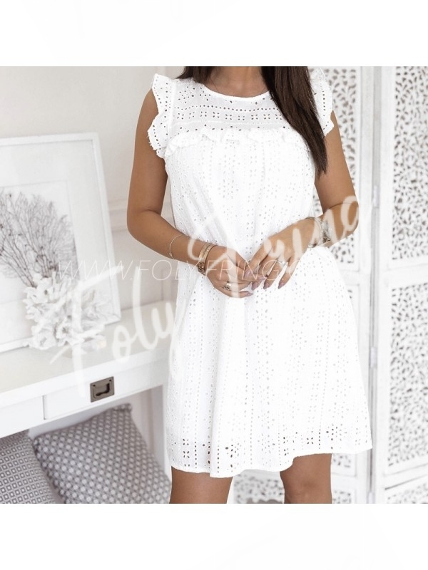 30a96a61b3b216 ROBE BRODERIE ANGLAISE WHITE     - FolyFring