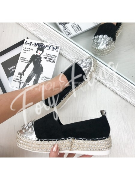 ***ESPADRILLES DIAMOND BLACK ***