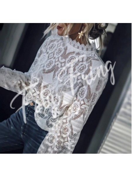 *** BLOUSE TRANSPARENCE WHITE ***