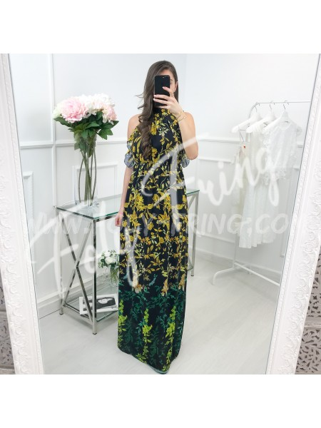 *** MAXI ROBE FLOWERS YELLOW ***