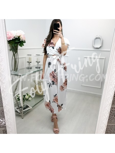 *** MAXI ROBE FLOWERS WHITE ***