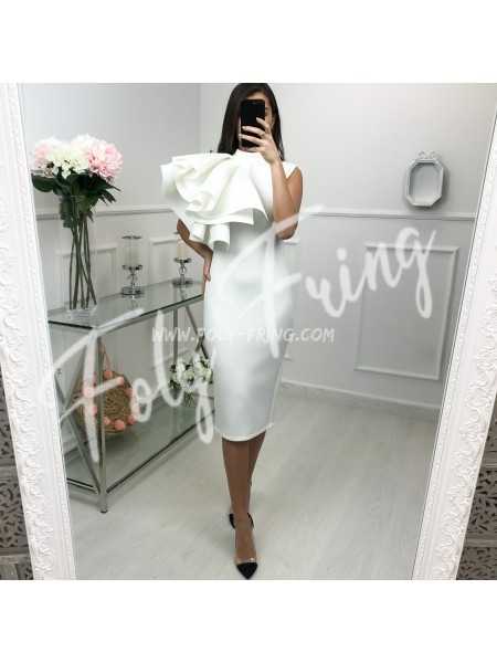 *** COLLECTION LIMITEE ROBE CEREMONIE ONE SHOULDER WHITE ***