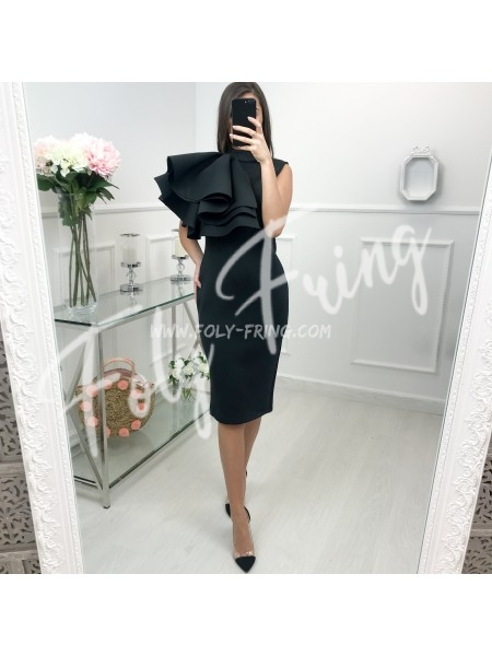 *** COLLECTION LIMITEE ROBE CEREMONIE ONE SHOULDER BLACK ***