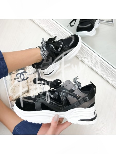 *** SNEAKERS FASHIONISTA BLACK ***