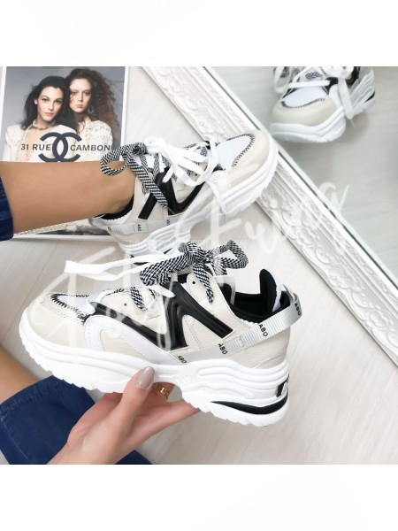 *** SNEAKERS FASHIONISTA WHITE ***