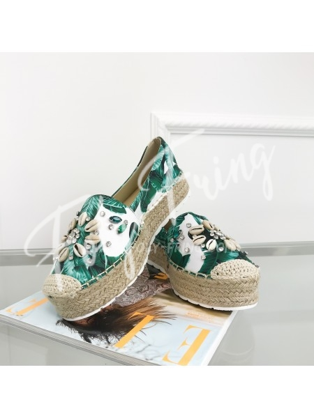 ***ESPADRILLES TROPICAL & COQUILLAGE  ***