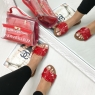 *** MULES FASHIONISTA SHINY RED ***