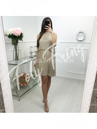 Robe Plissee Nude Taille Taille Unique