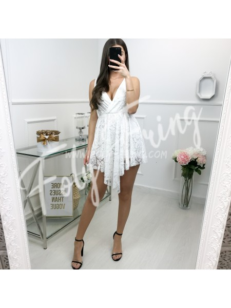 *** ROBE SHORT DENTELLE WHITE  ***