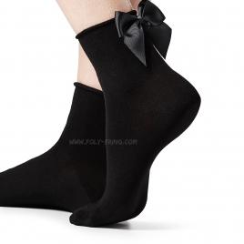 *** MINI SOCKS NOEUD BLACK ***