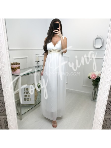 *** COLLECTION CEREMONIE MAXI ROBE WHITE ***