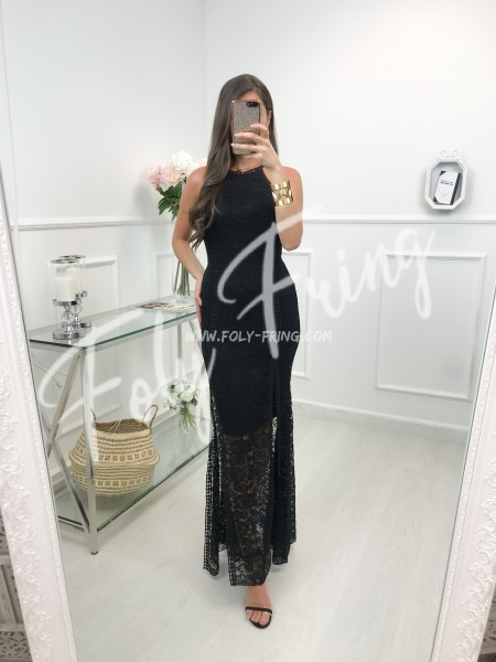 *** MAXI ROBE CEREMONIE DENTELLE BLACK ***