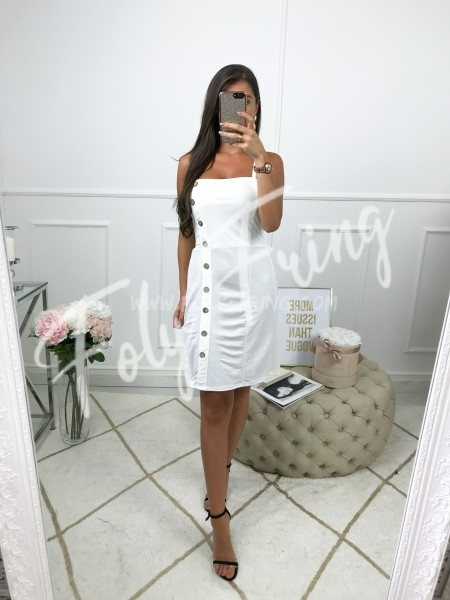 *** ROBE BOUTONS WHITE ***
