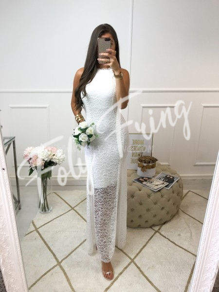 *** MAXI ROBE CEREMONIE DENTELLE WHITE ***