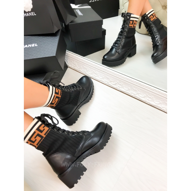 *** BOTTINES FENDA BLACK  ***