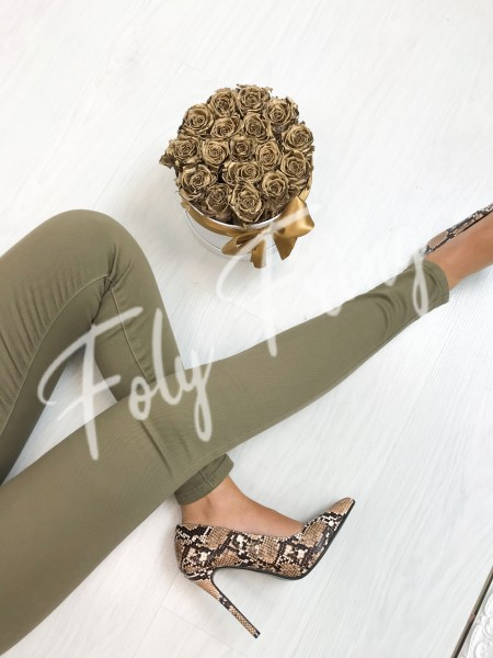 *** JEANS SKINNY PUSH UP TAUPE ***