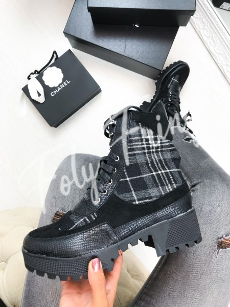 *** BOTTINES CARREAUX BLACK ***