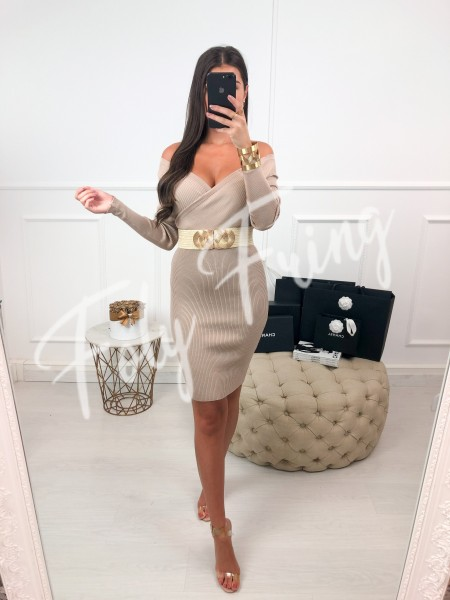 *** ROBE CACHE COEUR TAUPE ***