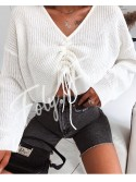 *** PULL CROPPED A NOUER WHITE ***