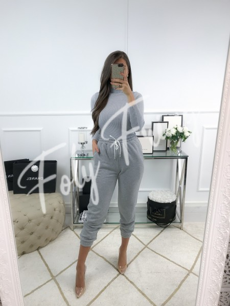*** PULL COL ROULE GREY ***