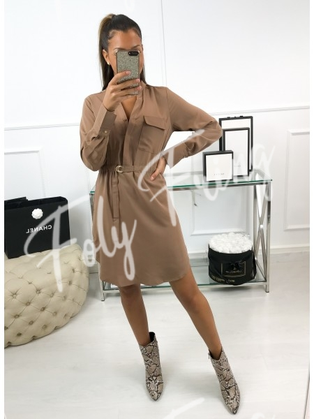 *** ROBE COL ROND CAMEL ***
