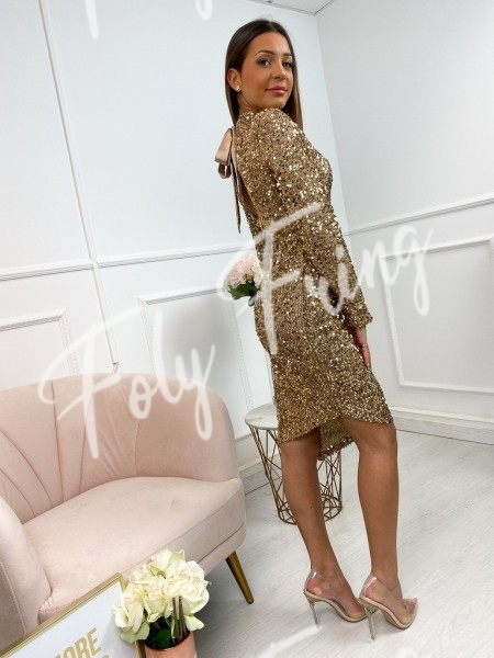 ROBE SEQUINS GOLD