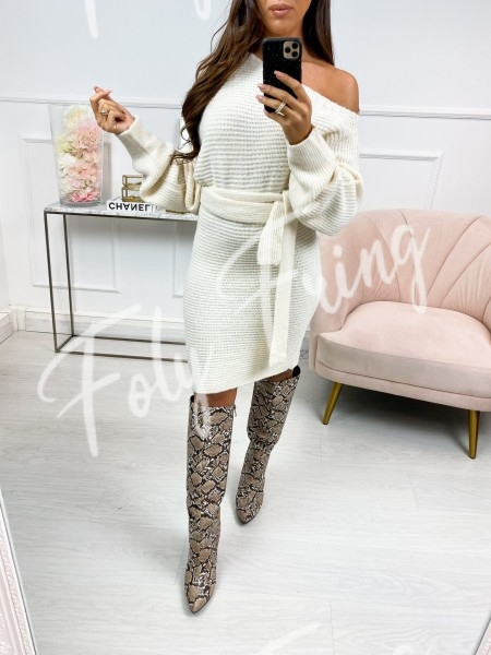 ROBE PULL A NOUER NUDE