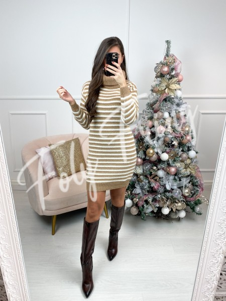 ROBE PULL COL ROULE GOLDEN...