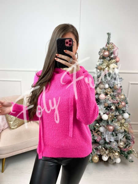 PULL A CAPUCHE DOUDOU PINK
