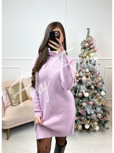 ROBE PULL COL ROULE DOUDOU...