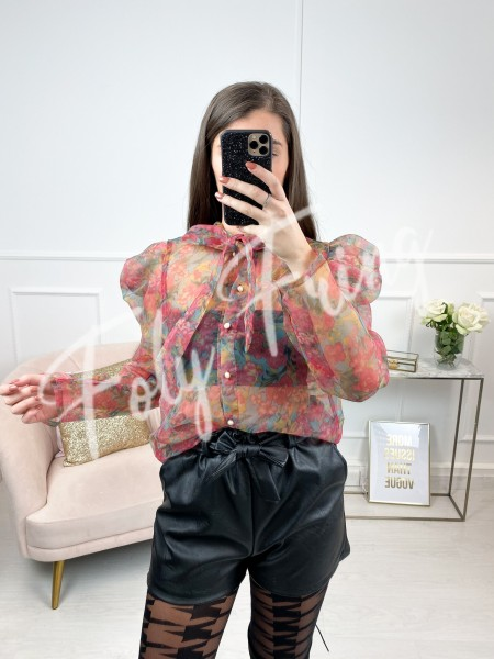 BLOUSE TRANSPARENCE FLOWERS...