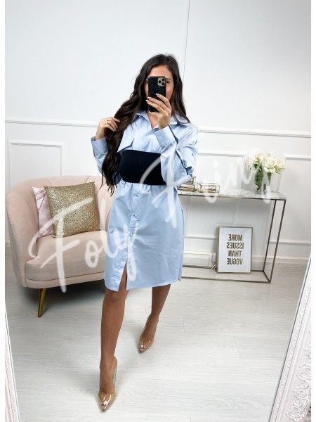 ROBE CHEMISE MANCHE BOUTONS...