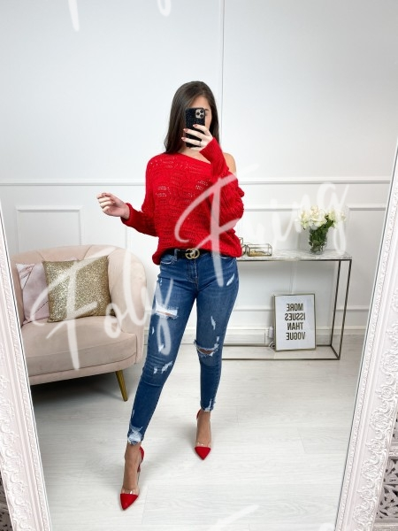 PULL AJOURE FASHIONISTA RED
