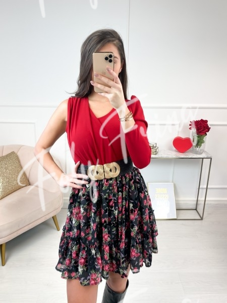 BODY ONE SHOULDER RED